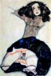 Schiele knieende Frau