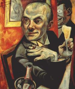 Max-Beckmann-Self-portrait-with-champagne-glass