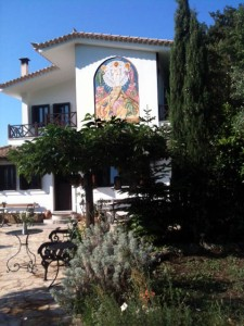 Kloster mit Ikone