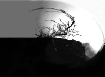 Baum abstrakt SW aa