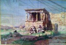 der Eretheion-Tempel zu Beginn des 19. Jhts.