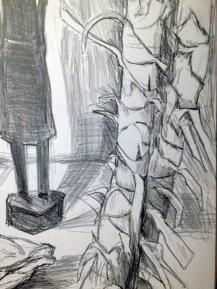 Bleistiftzeichnung Detail
