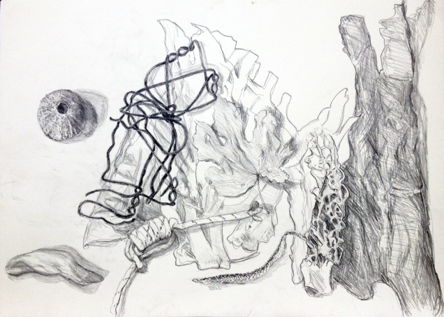 Skulptur aus Eisendraht