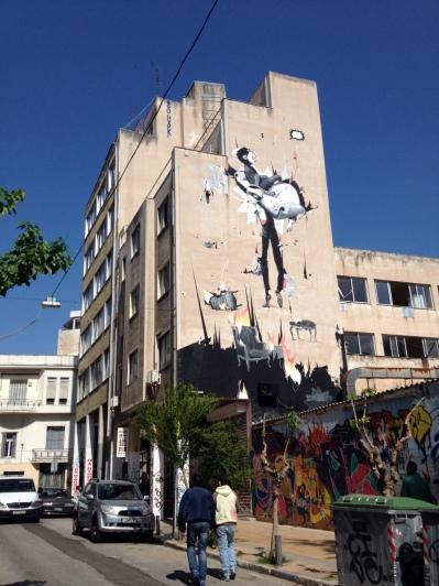 Graffiti an Hochhaus