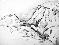 Struktur einer Landschaft(Kohle) (
