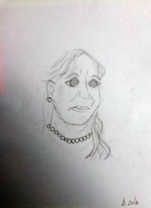Maria zeichnet Poppy