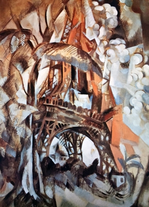 Robert Delauney, Eiffelturm mit Bäumen, 1909