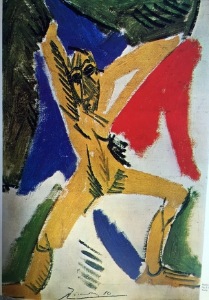 Picasso, Frau vor Draperie, 1907