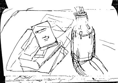 Flasche, Bücher, Broschüren