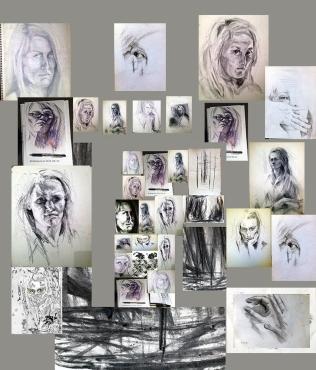 Collage von Selbstportraits