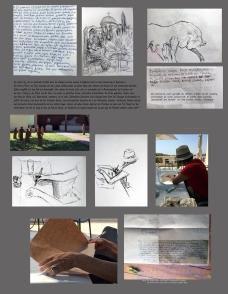 Fotografie-Zeichnung-Text