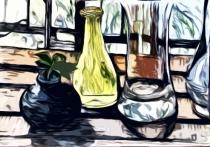 bearbeitete Dreifarb-Zeichnung