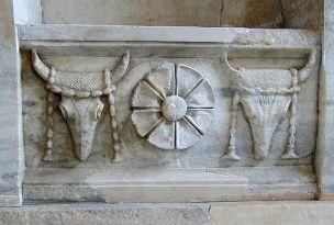 Samothrake, Tempel der Arsenoi, 4. Jg v.Chr. (Abb. aus Wikipedia)