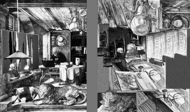800px-Dürer-Hieronymus-im-Gehäus doppel