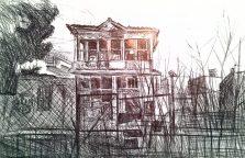 verfallene Villa in Maroussi