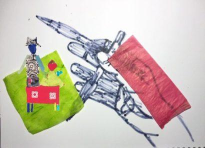 Zeichnung mit Filzstift