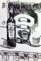 Tavernentische zeichnete ich